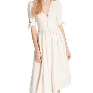 NWT Free People Love Of My Life Midi Dress ivory
